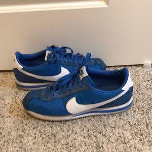 Nike Cortez. Men's 9.5. Blue/white. Worn. No box.